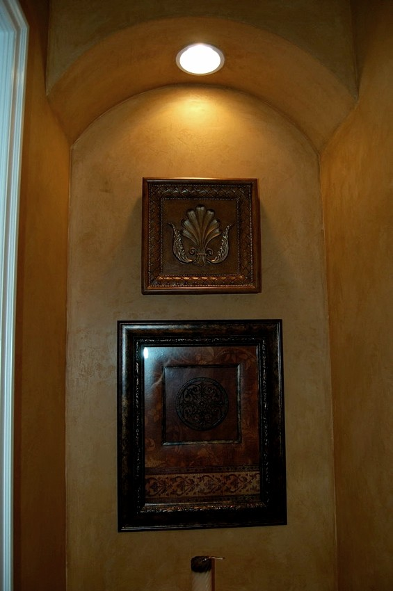 Venetian Italian plaster with antiquing